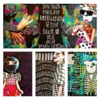 Dylusions - Creative Journal - Square Black